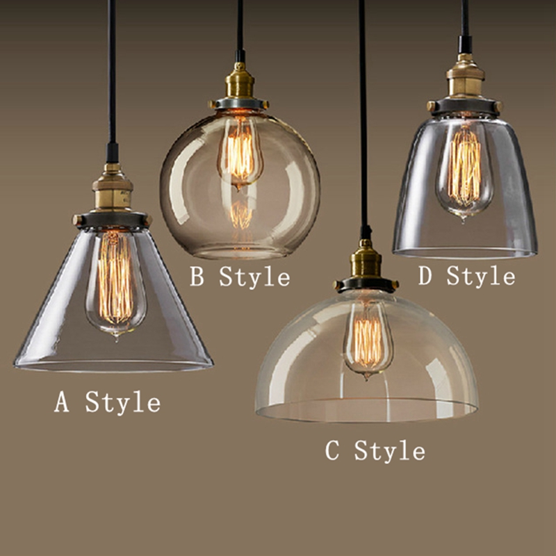 Modern Fashion American Industrial Vintage Creative Retro Loft Pendant Light Glass Bedside Aisle Restaurant Lamp Free Shipping<br>