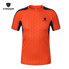 FANNAI Brand New Arrival 2017 men Designer soccer jerseys T Shirt sports Quick Dry Slim Fit Breathabl shirts Tops & Tees M_XXXL(China)