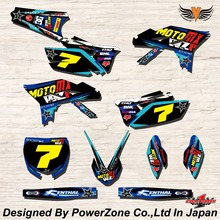 WR YZ YZF 125 250 400 450  Team Graphics Backgrounds Decals Stickers MTX Motor cross Motorcycle Dirt Bike MX Racing Parts