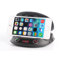 Portable Bluetooth Handsfree Car FM Transmitter with Phone Holders With Mini Speaker And Mp3 Player For Car and In Home