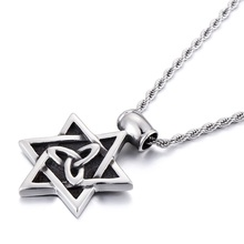 Hexamonds titanium steel men 's pendant personality boys stainless steel tag necklace