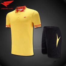 Running Set Quick Dry Women Trucksuit Short Sleeve badminton jersey polo t shirt Sport Suit tennis shirt sets breathable uniform(China)