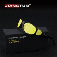 JIANGTUN HD Óculos de Visão Noturna Óculos Noite Condução Polarizada Óculos  De Sol 2019 Novo Designer Da Marca Amarela Gelbe Nac. e69f47262e
