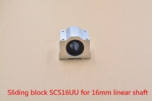 SC16UU SCS16UU bearing 16mm linear bearing slide block with LM16UU bearing for 16mm shaft 1pcs