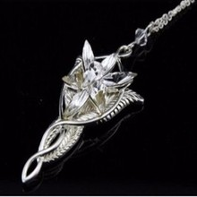 Fashion Jewlery The King Of The Lord Ladies Popular Necklaces Fairy Princess Arwen Evenstar Silver Pendant Neck-lace Gifts(China)