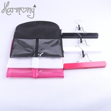 3 sets(3 bags+3 hanger) black pink white Hair Extension Carrier Storage Suit Case Bag Dust Proof Hair Extensions Bag(China)