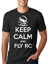 Buy 2018 Summer Cool Tee Shirt RC T-shirt RC Plane Jet Tee Shirt Keep calm Fly RC Remote Controlled Tee Funny T-shirt for $12.69 in AliExpress store