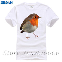 Funny Brand Clothing Men T Shirt Short Sleeve Bird 3D Cute Robin Custom 3XL Men's Shirts(China)