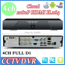 4 Channel DVR 960H DVR H.264 Full D1 Real-time Recording Network CCTV DVR For Iphone Android online View HDMI 1080P Output