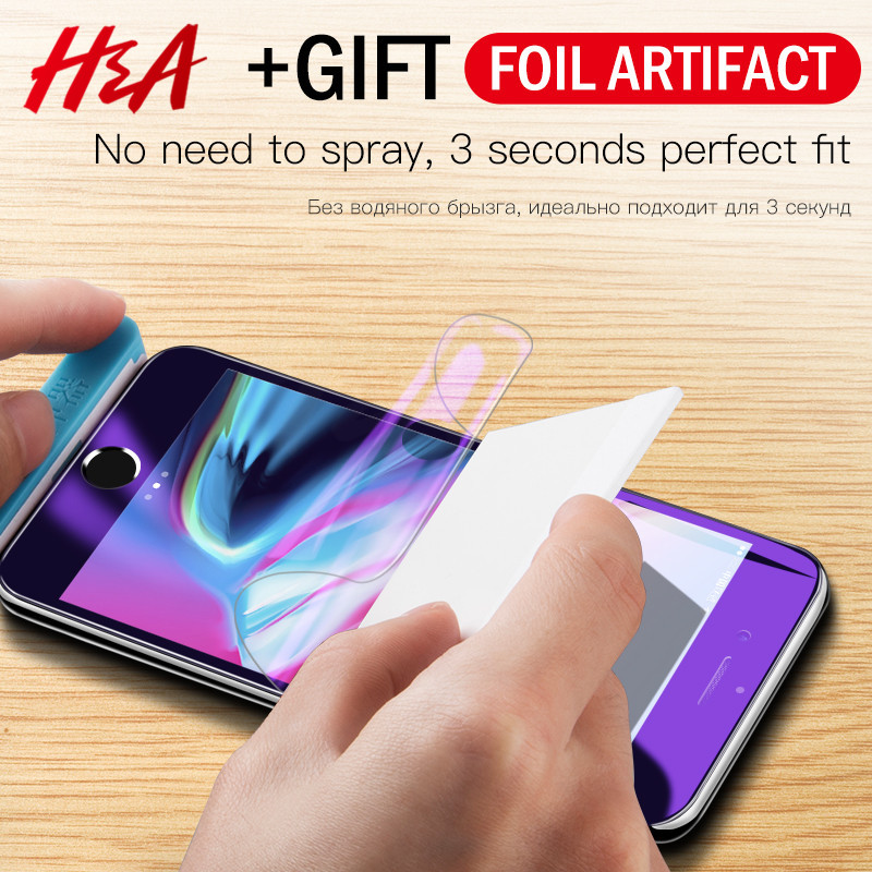 H&A 3D Full Cover Soft Hydrogel Film iPhone X 6 6s 8 7 Plus Screen Protector iPhone 7 8 Plus Screen Film  (Glass )
