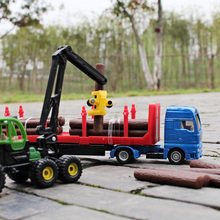 siku 1:87 Engineering series Wooden truck Grab a wooden car Alloy car model Children's toys ornaments Children like the gift(China)