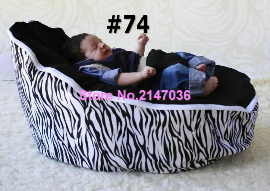 Zebra baby Bean Bag Style Polyester Material beanbag chair fabric for baby sleep, kids toddlers bean bag seat and beds<br>