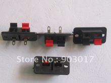 38x19mm 2pin Red and Black Push Type Speaker Terminal Board Connector 15 Pcs Per Lot HOT Sale HIGH Quality(China)