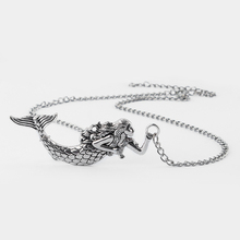 "Antique Silver Tone Large Mermaid Nautical Sea Ocean Charm Pendant Necklace Gift 18""-24""(China)"