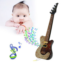 Kid's Baby Guitar Toy 4 String Acoustic Guitar Wisdom Development Simulation Fun Toy Musical Instrument Children Birthday Gift
