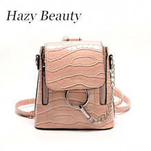 Hazy beauty  clasp open women backpack super chic lady cross body bag hot sell girls stone leather stylish hand travle bag DH897