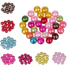 200/100pcs/lot 4/6mm Mixed Color Fashion Bright Candy Color Acrylic Pears Spacer Loose DIY Bracelets Necklaces Making Wholesale