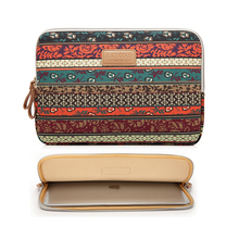 "Bohemian Design 11 12 13 14 15.6 inch Cavas Laptop Bag Notebook PC Sleeve Case Pouch for woman for hp macbook sony 11.6"" 13.3""(China)"