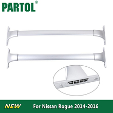 Partol Silver Car Roof Rack Cross Bar Roof Luggage Carrier Cargo Boxes Bike Rack 68KG/150LBS For Nissan Rogue 2014 2015 2016(China)