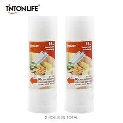 TINTON LIFE 15*500см вакуумные пакеты для хранения вещей и продуктов 2 рулона пакеты съедобной степени