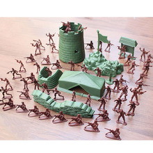 100pcs/set WWII Second World War Soldier Military sand table model Model Actions Figures Set Gift for Commander Boys(China)