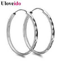 15% Off Punk Hoop Earrings for Women Circle Cubic Zirconia Earings Jewelry Pendientes Jewellery Brincos Vintage Sale Uloveido SY
