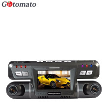 Gotomato Dual Lens Car Cam Novatek 96655 Chip Car DVR Full HD 1920 x 1080P Dash Cam 2 Camera Video Recorder B80