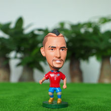 Kodoto National 6.5 cm Height size resin Soccer Doll Chile 8 Vidal mini Figure Office Doll in red kit(China)