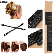 200Pcs/Set Bobby Pins Tool Black Hair Grips Clips Waved Clamps Salon Styling long/short clips Professional Accessory Round Toe