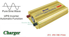 Meind@ High Quality Pure Sine Wave DC 24V to AC 220V Sufficient 1000W Peak 2000 Watt Power Inverter with Charger UPS