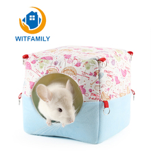 Comfortable Color Cotton Dual Purpose Winter Warmers Hamster Nest Chinchilla Golden Bear Rabbit Warm Nest Squirrel Easy Wash Dry(China)