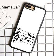 MaiYaCa Treble Staff Music Notes Printed Phone Case For iPhone 7 Plus Cases Soft TPU Back Cover Capa Coque For iPhone 7 Plus(China)