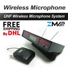 Free Shipping by DHL Professional UHF Wireless Microphone Wireless System With BodyPack Transmitter Headset Mic