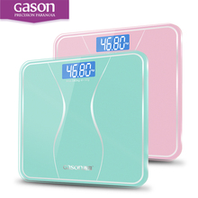 GASON A2s Bathroom Body Scales Glass Smart Household Electronic Digital Floor Weight Balance Bariatric LCD Display 180KG/50G(China)