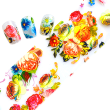 100cmx4cm Nail Art Transfer Foils Stickers Fashion Flowers Nail Decals Nail Tips Accessory Decoration Tools LAXK48