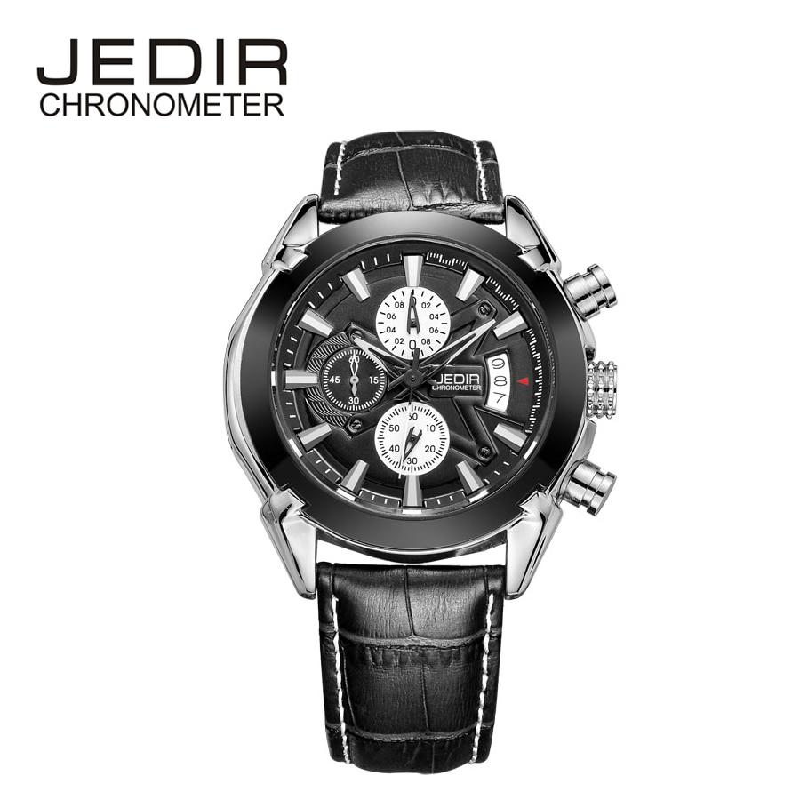 Brand JEDIR Men Watches Mens Quartz Hour Date Clock Male Leather Sports Watch Casual Military Wrist Watch Relogio Masculino<br><br>Aliexpress