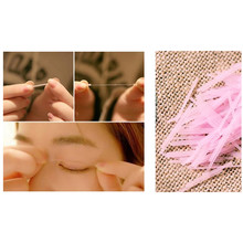 100pcs Invisible Fiber Double Side Adhesive Eyelid Trial Stickers Technical Eyes Tapes Beauty Cosmetic Makeup Eyelid Past Tool(China)