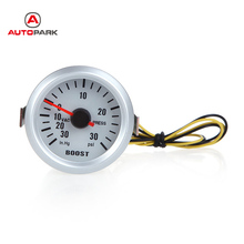 Professional Turbo Boost Vacuum Press Gauge Meter for Auto Car 2Inch 52mm 0~30in.Hg / 0~30PSI Blue LED Light for All Cars