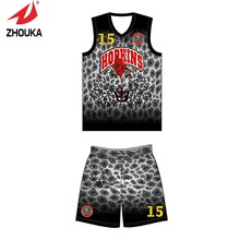 2016 Zhoka Men's basketball uniforms full sublimation design