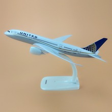 Alloy Metal American Air UNITED Airlines B787 Airplane Model UNITED Boeing 787 Airways Plane Model Stand Aircraft Gifts 20cm
