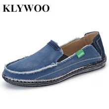 KLYWOO Plus Size 45 Canvas Shoes Men Brand New Arrival Men Breathable Fashion Casual Shoes Jeans Canvas Casual Shoes Men Loafers