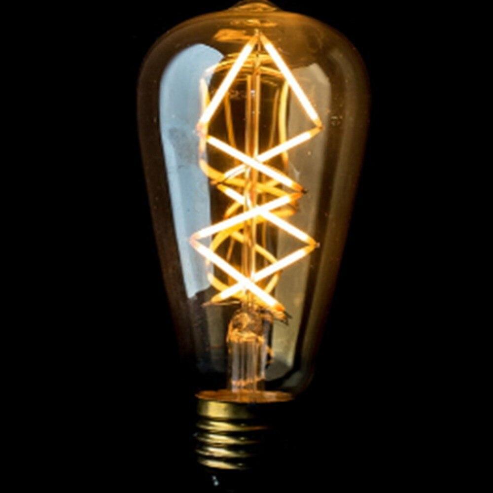 Dimmable,ST64 10W Vintage Lamp.LED Filament Bulb,Edison Style,Warm White(2700k),110V-240V AC,E26,E27 Base<br>