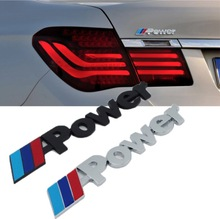 3D Matel M Power Car Decal Sticker Car Styling Decoration for BMW M3 M4 M5 X1 X3 X5 X6 E36 E39 E46 E30 E60 E92 Auto accessories