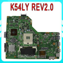 K54LY for ASUS motherboard X54H K54HR K84LY REV:2.0 HM65 mainboard 100% tested free shipping