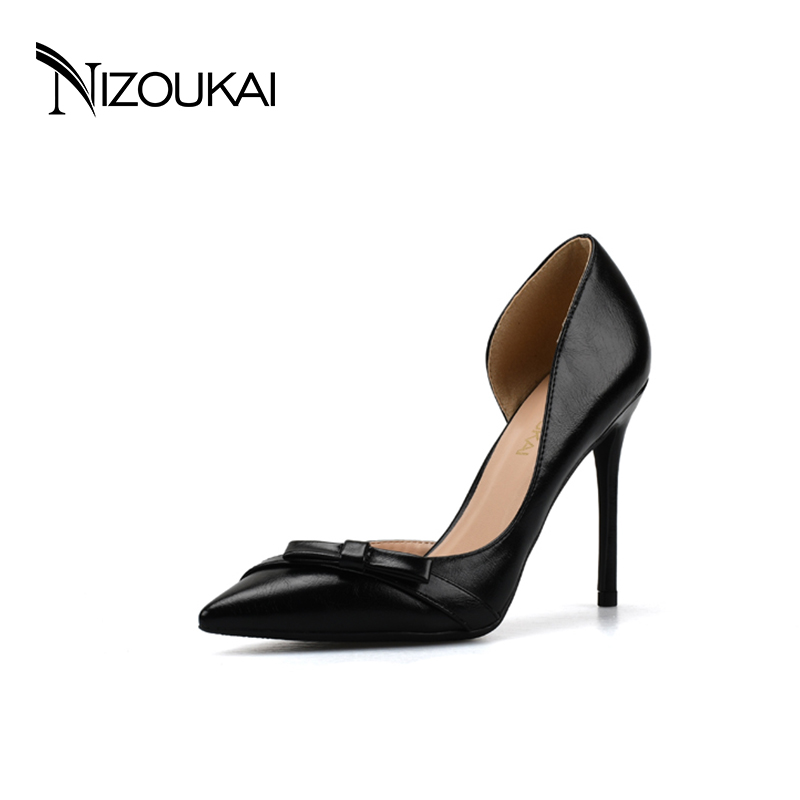 Size 35-44 High heels New Elegant Style Women Pumps Shoes Black Pointed toe Designer Autumn Party Pumps High heels Pumps djx06-c<br>