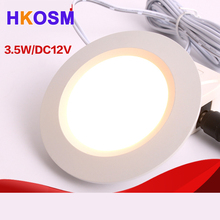 high quality Silver 12V LED downlight 5730SMD 3W led spots downlights warm white / cold white