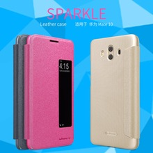 Nillkin Sparkle Flip Case For Huawei Mate 10 cover phone house filp cover for Huawei Mate 10 protective case(China)