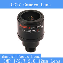 "3.0Megapixel Fixed Iris 2.8-12mm M12 Manual Focus Zoom MTV Lens For 1/3""&1/4""CCTV Security CCD Camera"