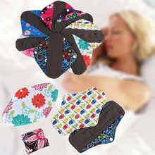 1pc Pretty Reusable Bamboo Cloth Washable Menstrual Pad Mama Sanitary Towel Pad  Feminine Hygiene Product High Quality