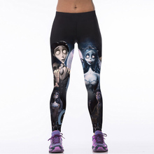 Brand Womens Leggings 2015 New 3D Print Skull Pattern Leggings Fitness Clothes 22 Styles Women Black Pants Leggings(China)